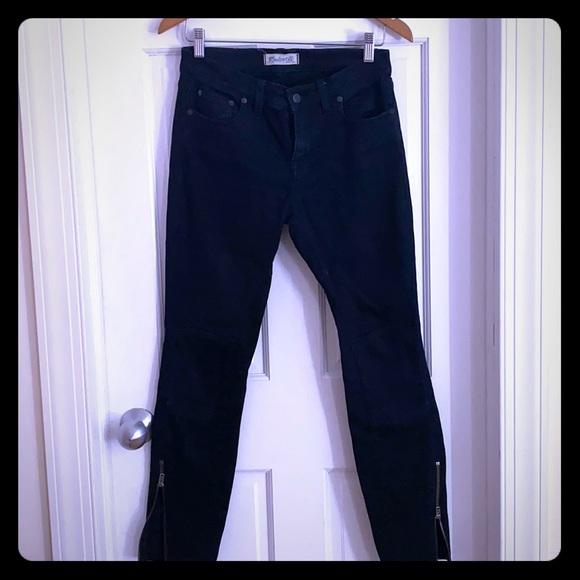 Madewell skinny dark denim moto jeans size 27